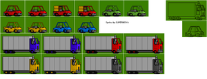 Better car sprites by Mamamia64