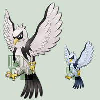 Fakemon EAGLIBRUTE by psychonyxdorotheos