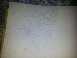 Duh Twilight Princess :( fast sketch :D(spoiler!!) by xw3r3w0lfx
