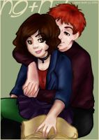 Hermione and Ron by prismageek