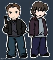The Winchester Brothers - SPN- by nuriwan
