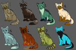 Cat Adoptables Open! by poisonflame