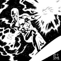 Silver Surfer - 6x6 by ronsalas
