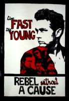 Rebel without a cause - poster by d-o-m-i