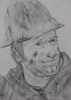 Mike Rowe Portrait Drawing by Visualiart