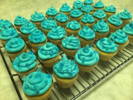 Sapphire Mini Cupcakes by DynamoDazzle