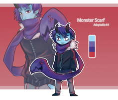 Monster Scarf Adopt #1 by vSock