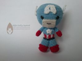 Amigurumi Captain America by LittleCraftySquirrel