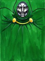 Daily Sketches Dr Doom by fedde
