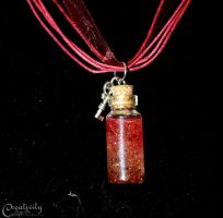Phoenix Tears Vial Necklace by CreativityFTCorrupt