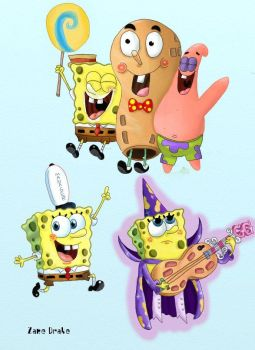 SpongeBob Movie Doodles by ZaneDrake