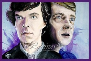 Sherlock and John by ReginesArtwork