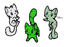 FREE Zombie cat adopts! OPEN! by FrankinPoodle
