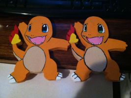 Charmander Wooden Figures by daghostz