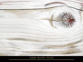 Flesh - Blood - Wood by satan666v