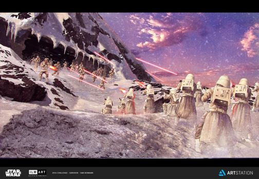 Challenge 3 - Part One Escpae from Hoth by SamDenmarkArt