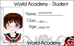 MMDWorld Academy Application for Leila Eyeme by The-Roses-Of-Red