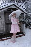 Pink Lolita in the Snow 1 by Viiictoria