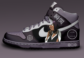 Yoruichi Custom Nike Dunks by Azrael-Haze