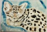 Sleeping Kitten watercolor aceo by tulipteardrops