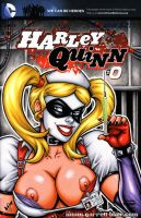 Naughty Nurse Harley bust cover by gb2k