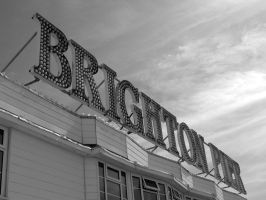 Brighton Pier: The Sign by monoreality
