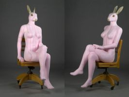 Rabbit Woman by DiamondDustTaxidermy