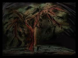 Red tree by Mash11