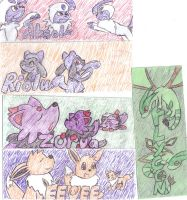 Pokemon Bookmarks by loofytehfox
