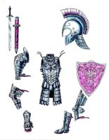 MLP:FIM armour: Crystal Imperial Guard by tod309