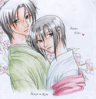 fruits basket- shigure x akito by swamp-monster
