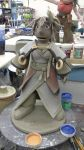 ceramics 4: project 5 working on Queen Royall by ownerfate