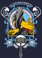GOD OF THUNDER - T SHIRT ART by AdamsPinto