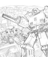 Optimus Prime vs Megatron by biz02