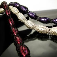 Wire knit pearl necklaces by CatsWire