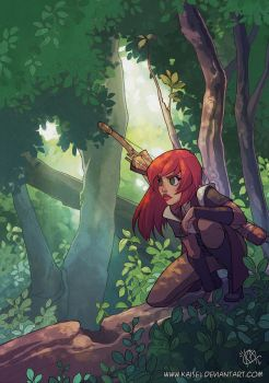 In the woods by Kaisel