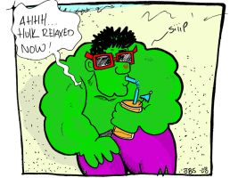 HULK...relaxed now by JBinks