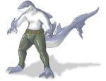Commission - Hagar Hunter Sharkform by kyrio