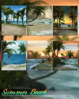 Summer Beach Backgrounds by cosmosue