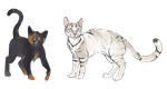 Some personal cat characters by jessyr