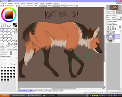 Adopt a maned wolf - old oc by dNiseb