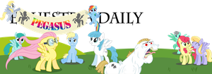 Equestria Daily banner by Moonbrony