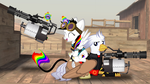 Lightning Bliss and Silver Quill by Lightning-Bliss