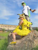 N and Pikachu - Colossalcon 2014 by exailious
