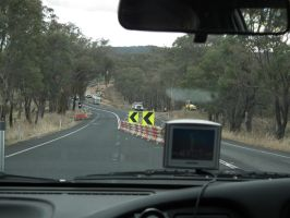 View from a Nissan - Rural Roadworks by BrendanR85
