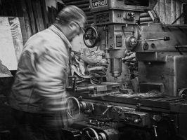 Adem At Work 2 Bw by BobRock99