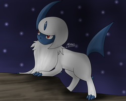 Absol- Art Trade by Aven-Mochi