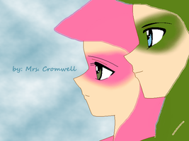 pink and green arrow by MrsCromwell