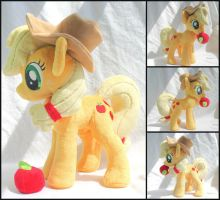Applejack Plush SOLD by stevoluvmunchkin