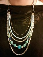 Beach inspired Multi Necklace by EllasDesigns